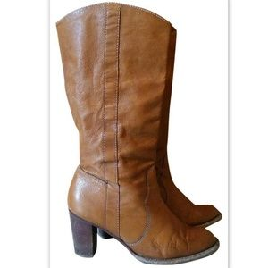 KORS Michael Kors Knee High Leather Riding Boots